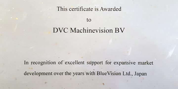 DVC is nu een Certified Partner of BlueVision